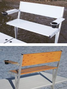 Bench accessories for docks.