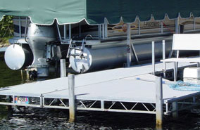 Sundeck component for Roll-In docks.