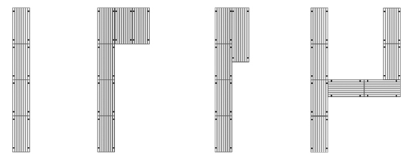 Sectional docks sample layout.