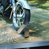 Cycle Wheel Chock Trailer Accessory