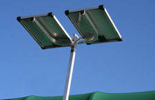 Solar panel kit for vertical lifts.