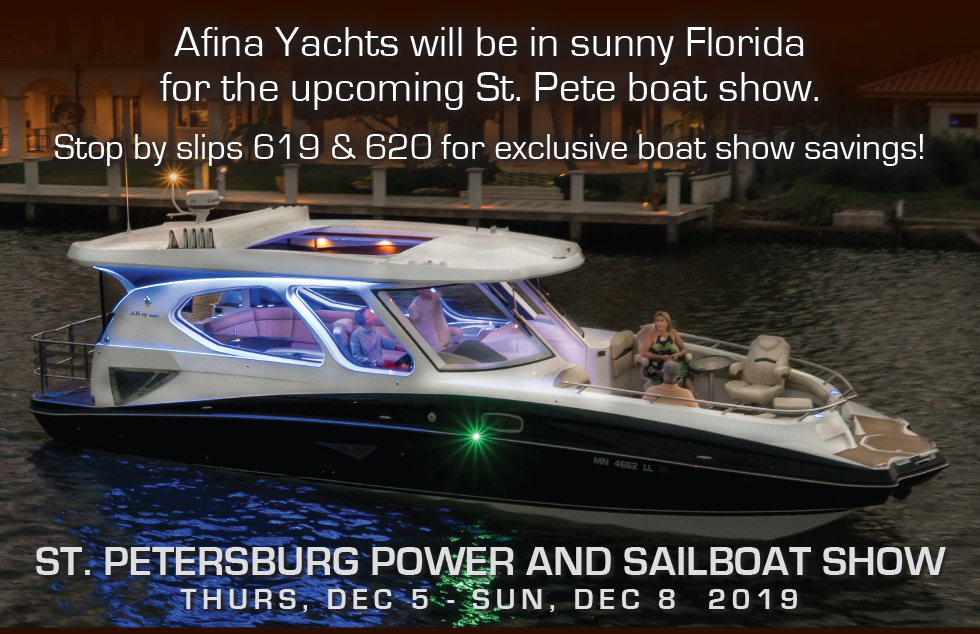 Afina Yachts St Pete Boat Show 2019